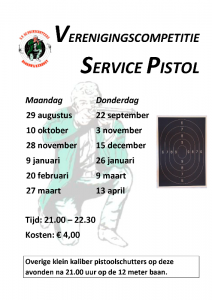 SERVICE PISTOL POSTER - competitie 2016-17